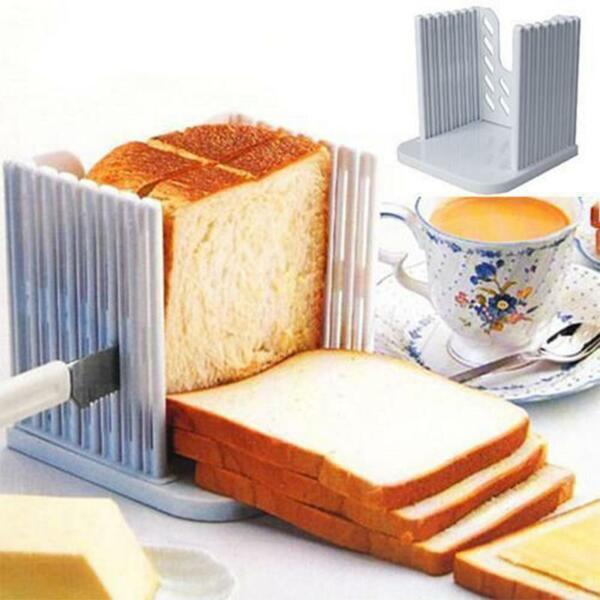 Toast Slicer Cutter Bread Loaf Kitchen Pro Tool Mold Maker Slicing Cutting Guide