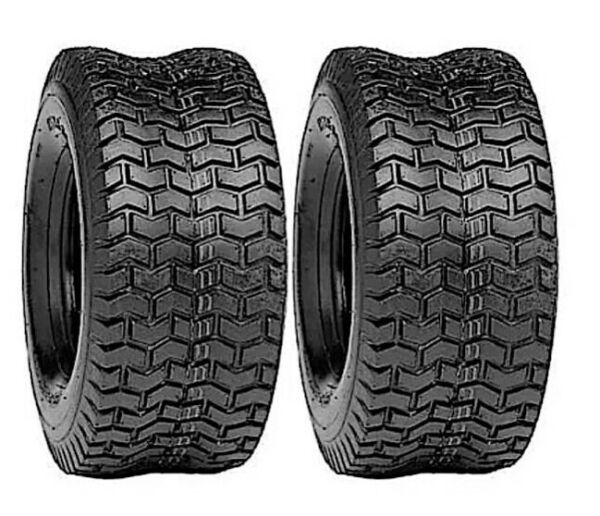 TWO 13X6.50-6 LAWN MOWER TIRES TURF  4 PR TUBELESS TIRES 13 650  6