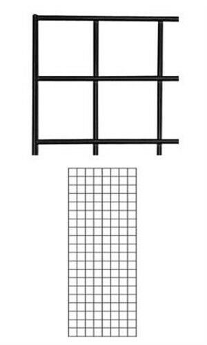 Pack of 4 New Retails Black Finish Wire Grid Wall Panel 2' x 5'