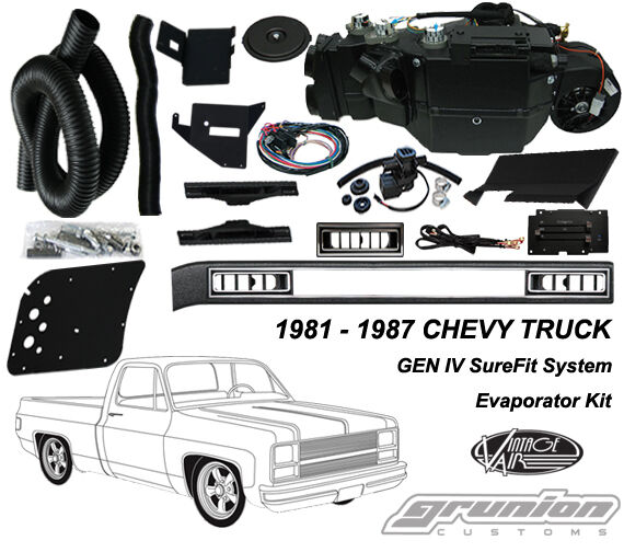 Vintage Air ChevyTruck w/o AC 1981 - 1987 Air Conditioning Evaporator Kit 751181