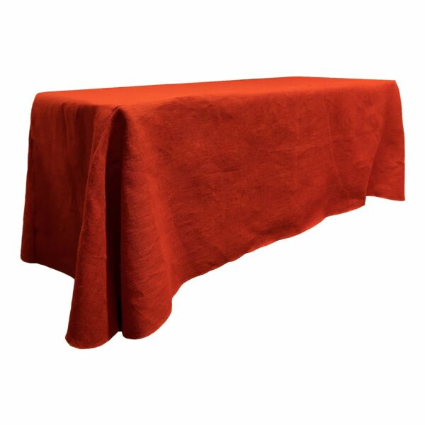 LA Linen Natural Burlap Rectangular Tablecloth 90 by 156-Inch. Made in USA
