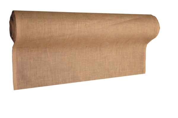 LA Linen Prepackaged Natural Burlap Fabric 40-Inch Wide