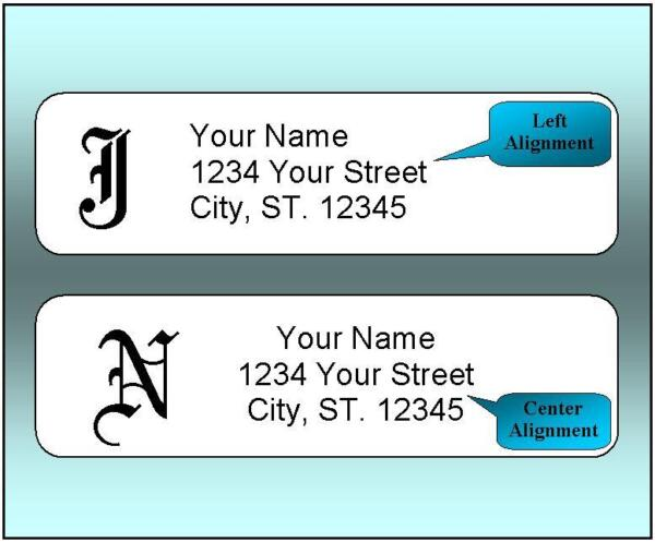800 Personalized Return Address Labels.  12 x 1.75 Inch Monogrammed Labels.