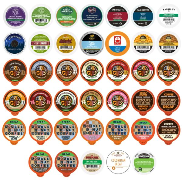 Decaf Coffee Single Serve Cups for 2.0 K cups Variety Pack Sampler40-count