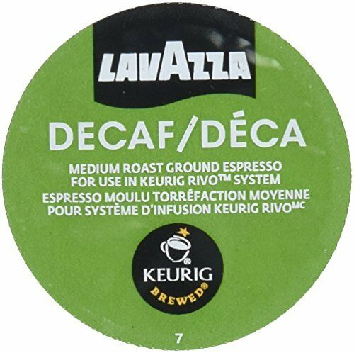 Lavazza Espresso Decaf Keurig Rivo Pack 18 Count New Free Shipping