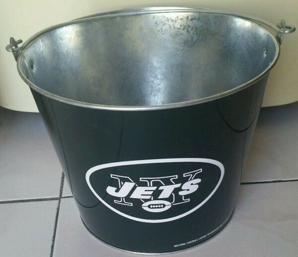 NFL NEW YORK JETS ICE BUCKET 23cm Diameter Party Drink BEER Bottle Holder Pail