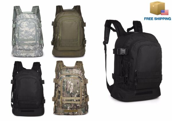 40L Outdoor Expandable Tactical Backpack Military Camping Hiking Trekking