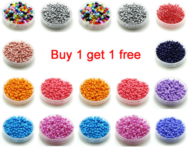 Free Shipping 200pcs 3mm 80 Round Czech Glass Seed Spacer Beads Jewelry Making