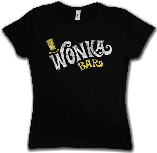 WONKA BAR WOMAN T-SHIRT - Willy Chocolate Factory Charlie Bucket Roald
