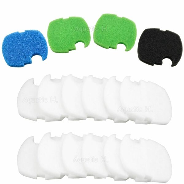 16 pcs Canister Filter Pads for SUNSUN 304B404B Bio Sponge Floss Replacement