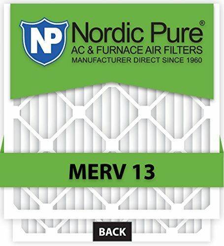 Nordic Pure 16x25x2M13-3 16x25x2 MERV 13 Pleated AC Furnace Air Filter Box of 3