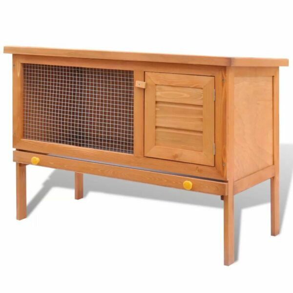 vidaXL Outdoor Rabbit Hutch Small Animal House Pet Cage 1 Layer Wood House