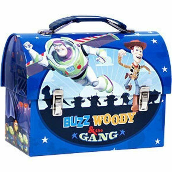 Tin Toolbox Lunch Snack Toy Carrier TOY STORY Woody Buzz Friends Blue NEW $9.99