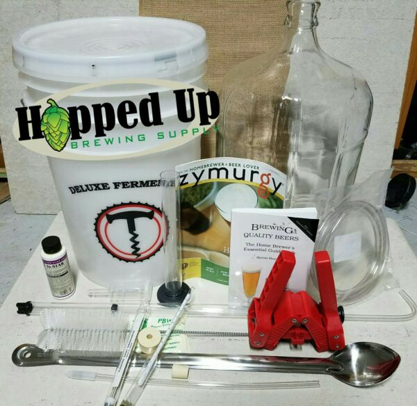 Home Beer Brewing Equipment -Deluxe Home Beer Brewing Kit w FREE RECIPE KIT !!
