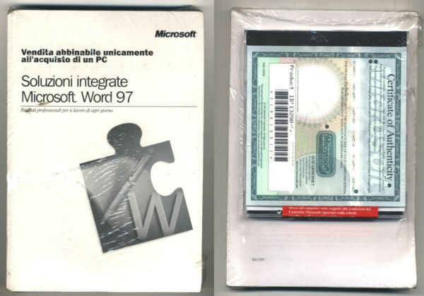 Software SOLUZIONI INTEGRATE MICROSOFT WORD 97 Windows Office 95 98 NUOVO