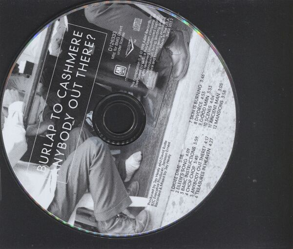 Anybody Out There? Burlap to Cashmere CD Only