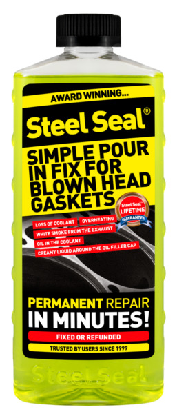Steel Seal Head Gasket Sealer 16 oz for 4 cylinder cars - Free 2-3 Day Shipping!