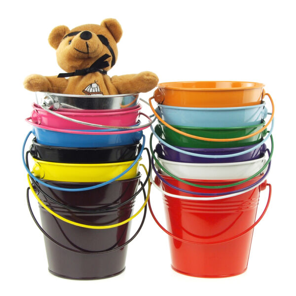 Metal Pail Bucket Candy Favor Boxes 5-Inch