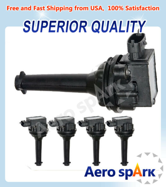 Premium Ignition Coil 5 Pack For Volvo C70 S70 XC70 XC90 S60 C1258 9125601 UF341