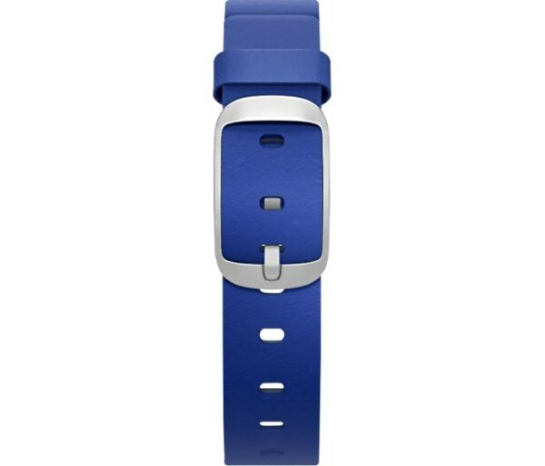 Pebble - Leather Band for 14mm Pebble Time Round Smartwatches - Cobalt Blue