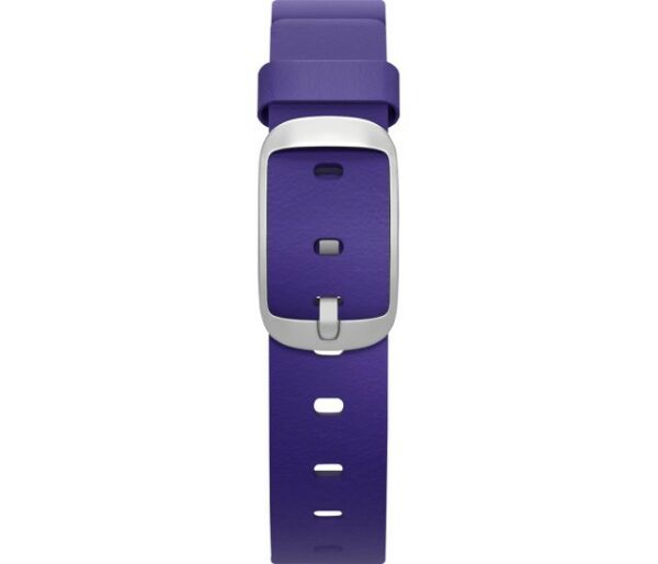 Pebble - Leather Band for 14mm Pebble Time Round Smartwatches - Violet