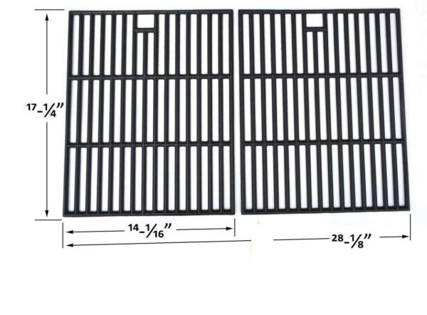 Cast Grates for Grill Chef SS72B 810 8425 S GBC1273W Gas Models Set of 2