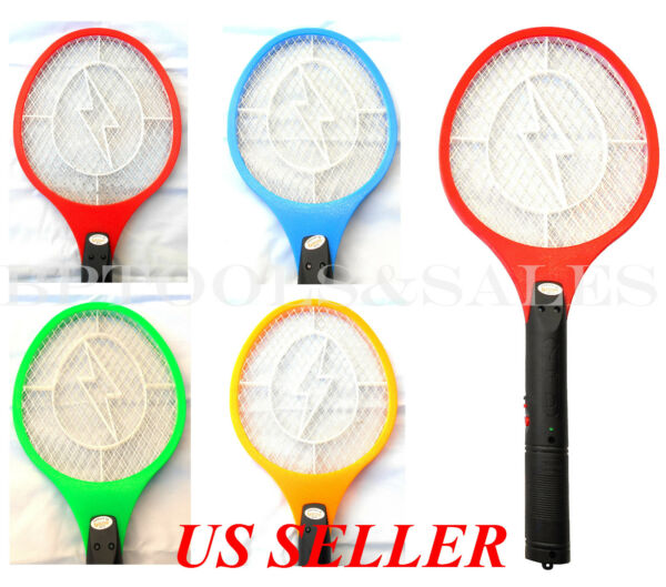 Cordless Rechargeable Bug Zapper Mosquito Insect Electric Fly Swatter Racket Bat $11.99