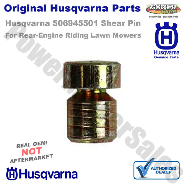 506945501 Husqvarna Shear Pin for 970 1200 Riding Lawn Mowers amp; More