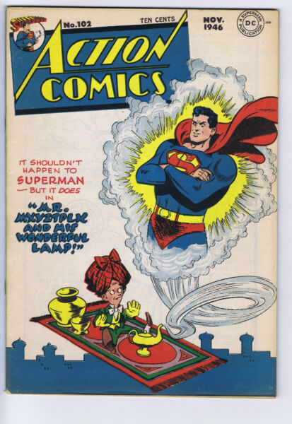 Action Comics #102 DC Pub 1946 Mitchell Moran copy