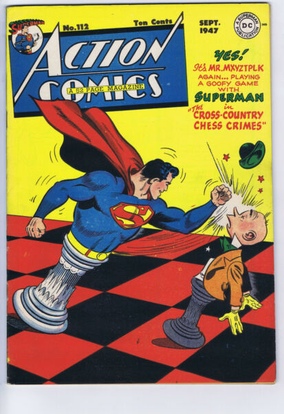 Action Comics #112 DC Pub 1947 Mitchell Moran copy