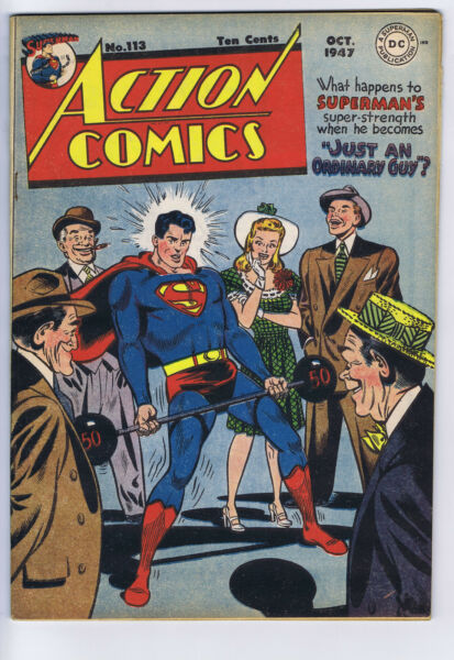 Action Comics #113 DC Pub 1947 Mitchell Moran copy