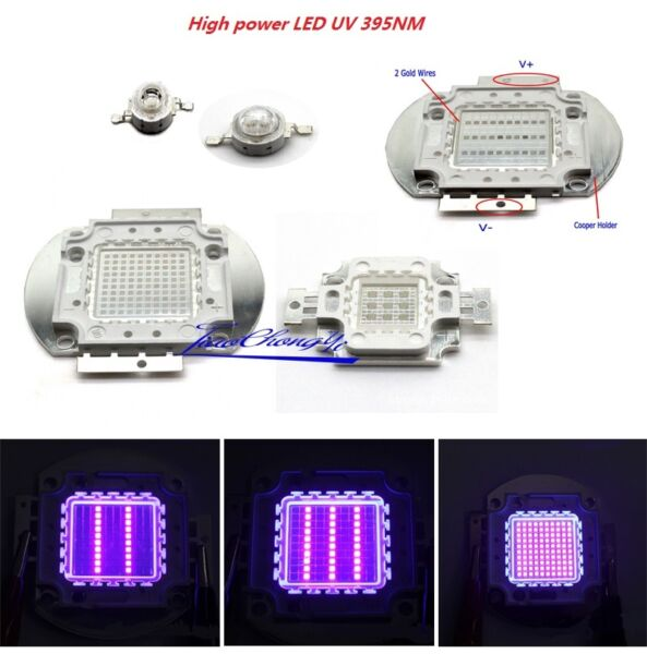 3W 5W 10w 20w 30W 50w 100W 395NM UV Ultra Violet High power LED for Aquarium $19.00
