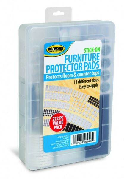 272pc Furniture Protector Pads Assorted Sizes Stick on Countertops Floor chairs $9.99
