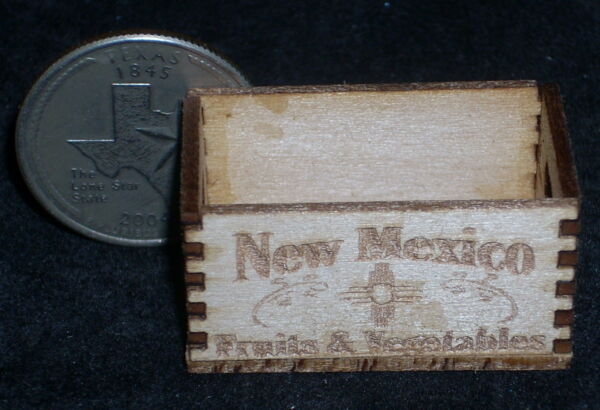 New Mexico Wood Produce Crate 1:12 Miniature Farm Market Grocery Store Food