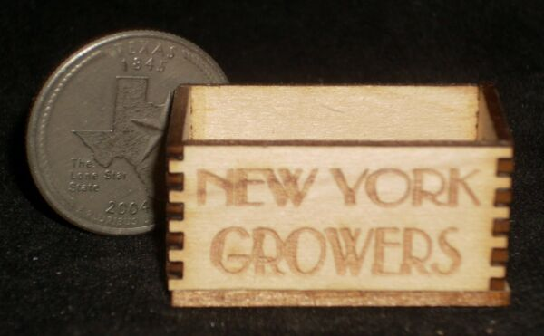 New York Wood Produce Crate 1:12 Miniature Farm Market Grocery Store Food