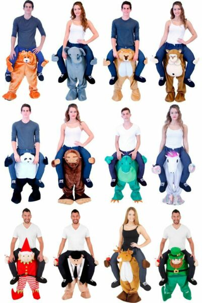 Choose Adult STD Size Funny Halloween Animal Lift Me Walking Carrying Costume