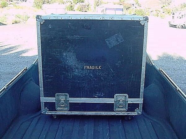 ATA ROAD / FLIGHT CASE LARGE ON WHEELS EXCELLENT CONDITION CHEAP selectvintage