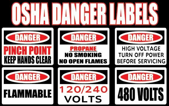 Danger Pinch Point Keep Hands Clear OSHA Safety Sign Decal Sticker Labels