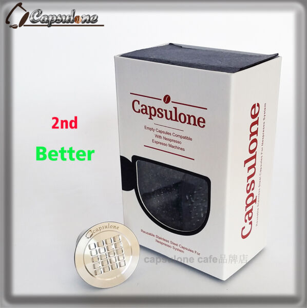 STAINLESS STEEL Metal Capsule fit for Nespresso coffee Machine  Refillable gif