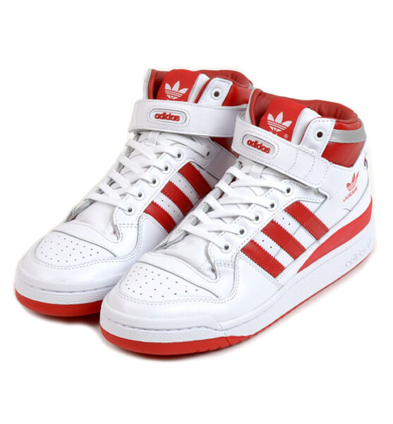 [F37829] MEN'S ADIDAS ORIGINALS FORUM MID REFINED RETRO WHITE / RED SZ 8-13