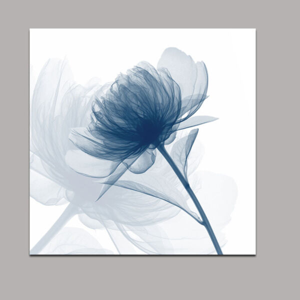 Abstract Canvas Print Home Decor Wall Art Painting Pictures Blue Flower Framed