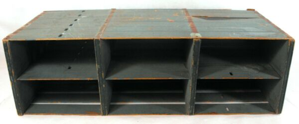 Vintage Wooden Crate Storage Organizer Shabby but Chic Primitive Country Decor