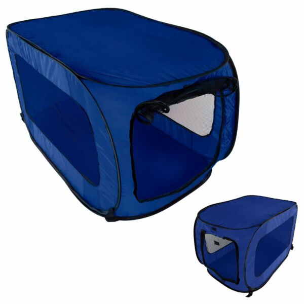 Dog Crate Kennel Portable Soft Collapsible Folding Pet Travel Big Pop Up Cage $21.49