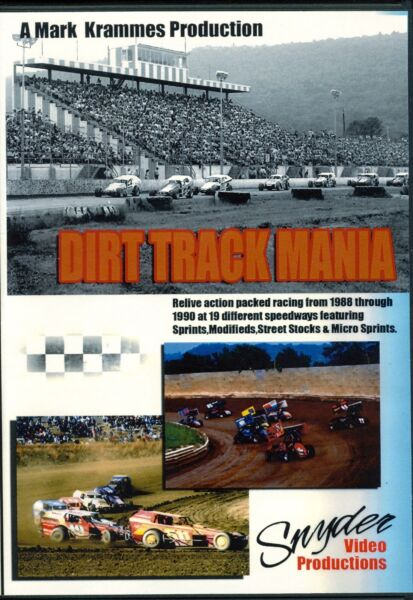 Dirt Track Mania 1988 1990 DVD Snyder Video Productions $24.95