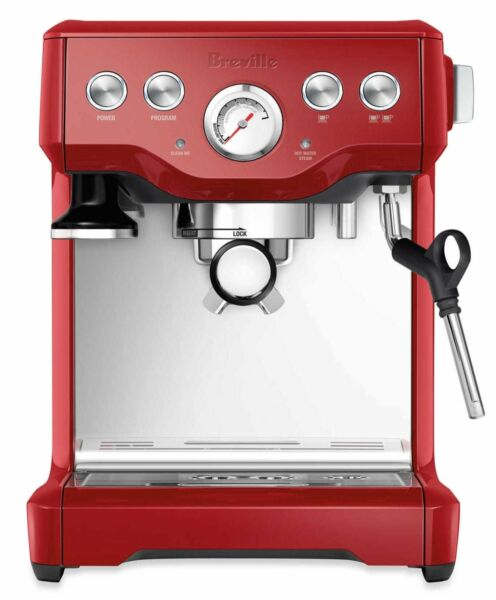 Breville BES840XL BES840CBXL Red Infuser Espresso Stainless Steel Coffee