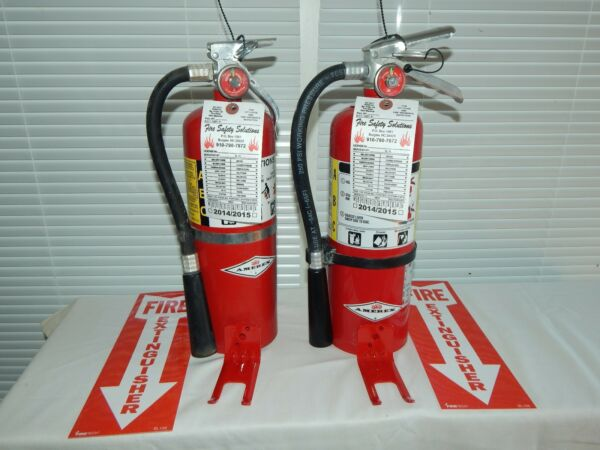 Fire Extinguisher 5Lb ABC Dry Chemical Lot of 2 SCRATCHamp;DENT