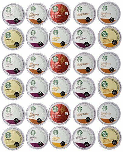 30 Count - Variety Pack of Starbucks Coffee K-Cups for All Keurig K Cup Brewe...