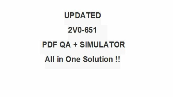 VMware Certified Professional 6 Desktop and Mobility Exam 2V0-651 Test QA