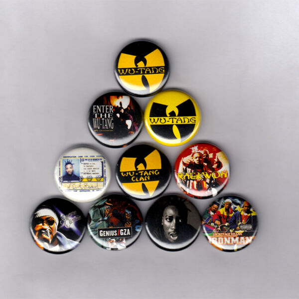 WU TANG 1quot; PINS BUTTONS 36 chambers raekwon method ghostface gza odb poster lp