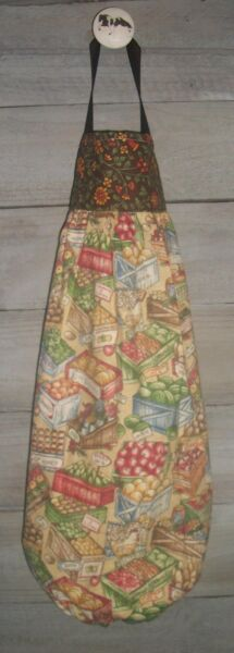 Farmer Market Vegetables Fruit Crates Plastic Grocery Bag Rag Sock Holder